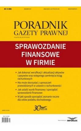 Sprawozdanie finansowe w firmie - Infor Pl - Ebook - 978-83-65947-35-2