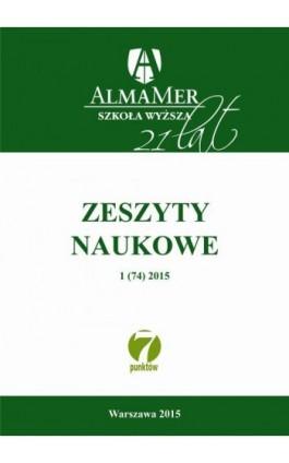 Zeszyty Naukowe ALMAMER 2015 1(74) - Praca zbiorowa - Ebook
