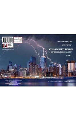 Wybrane aspekty badawcze. Gospodarka, Zarządzanie, Innowacje TOM I - Iwona Lupa - Ebook - 978-83-65357-17-5