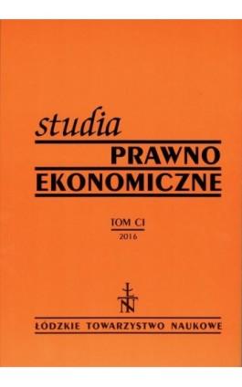 Studia Prawno-Ekonomiczne t. 101 - Praca zbiorowa - Ebook