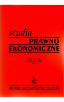 Studia Prawno-Ekonomiczne t. 98 - Praca zbiorowa - Ebook