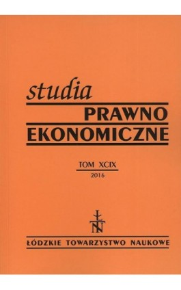 Studia Prawno-Ekonomiczne t. 99 - Praca zbiorowa - Ebook
