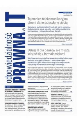 Odpowiedzialność prawna w IT sierpień 2013 - Ebook