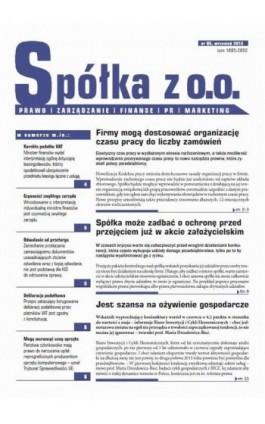 Spóła z o.o. Prawo zarządzanie finanse PR marekting wrzesień 2013 nr 95 - Ebook