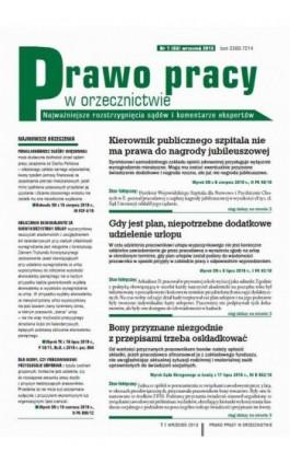 Prawo pracy w orzecznictwie wrzesień 2013 nr 1 (83) - Ebook