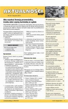 Aktualności bhp sierpień 2013 nr 53 - Ebook