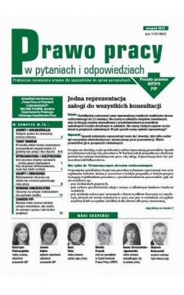 Prawo pracy w pytaniach i odpowiedziach sierpień 2013 - Ebook