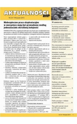 Aktualności bhp wrzesień 2013 nr 54 - Ebook