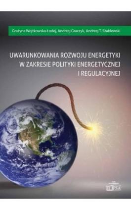 Uwarunkowania rozwoju energetyki w zakresie polityki energetycznej i regulacyjnej - Grażyna Wojtkowska-Łodej - Ebook - 978-83-8017-138-1