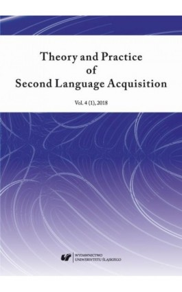 """Theory and Practice of Second Language Acquisition"" 2018. Vol. 4 (1) - Ebook"