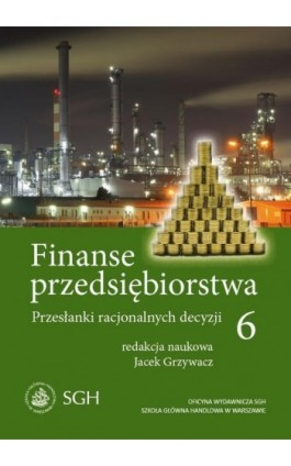 Finanse przedsiębiorstwa 6. Przesłanki racjonalnych decyzji - Jacek Grzywacz - Ebook - 978-83-8030-157-3