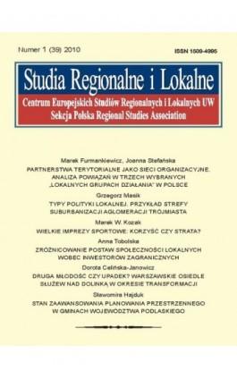 Studia Regionalne i Lokalne nr 1(39)/2010 - Ebook