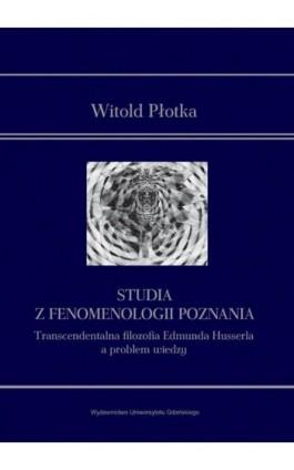 Studia z fenomenologii poznania - Witold Płotka - Ebook - 978-83-7865-873-3
