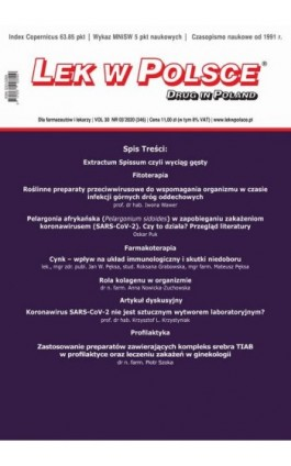 Lek w Polsce nr 3/2020 - Praca zbiorowa - Ebook