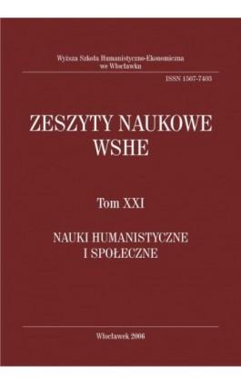 Zeszyty Naukowe WSHE, t. XXI, Nauki Humanistyczne i Społeczne - Ebook