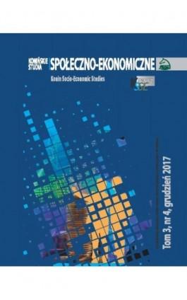 Konińskie Studia Społeczno-Ekonomiczne Tom 3 Nr 4 2017 - Ebook