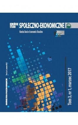 Konińskie Studia Społeczno-Ekonomiczne Tom 3 Nr 1 2017 - Ebook