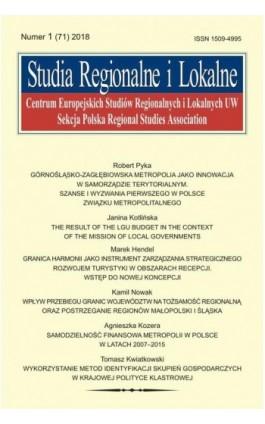 Studia Regionalne i Lokalne nr 1(71)/2018 - Robert Pyka - Ebook