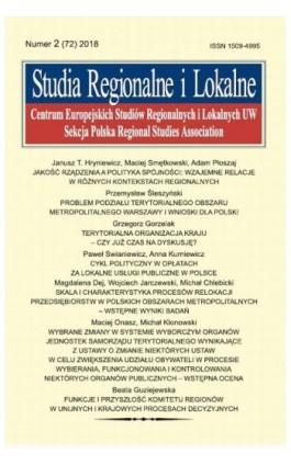 Studia Regionalne i Lokalne nr 2(72)/2018 - Janusz T. Hryniewicz - Ebook