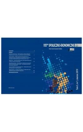 Konińskie Studia Społeczno-Ekonomiczne Tom 5 Nr 1 2019 - Ebook