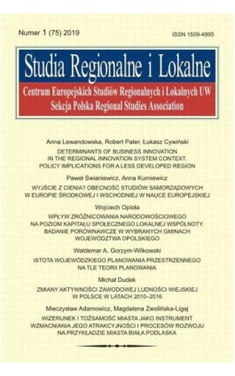 Studia Regionalne i Lokalne nr 1(75)/2019 - Anna Lewandowska - Ebook