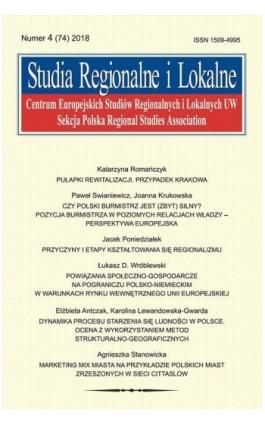 Studia Regionalne i Lokalne nr 4(74)/2018 - Katarzyna Romańczyk - Ebook