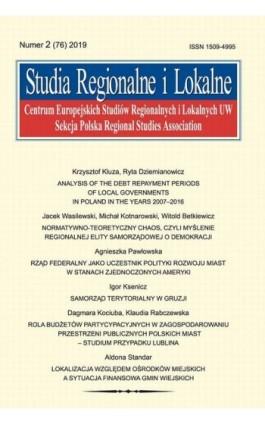 Studia Regionalne i Lokalne nr 2(76)/2019 - Krzysztof Kluza - Ebook