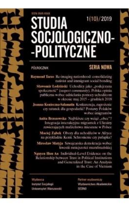 Studia Socjologiczno-Polityczne 1(10)2019 - Praca zbiorowa - Ebook