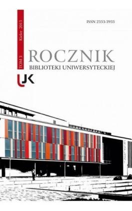 Rocznik Biblioteki Uniwersyteckiej, t.3 - Ebook