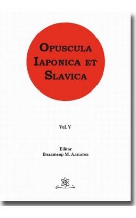 Opuscula Iaponica et Slavica Vol. 5 - Ebook - 978-83-7798-373-7