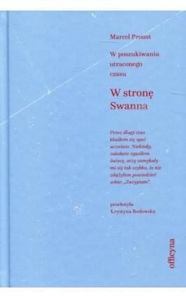W stronę Swanna - Marcel Proust - Ebook - 978-83-62409-86-0