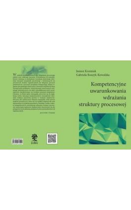 Kompetencyjne uwarunkowania wdrażania struktury procesowej - autor zbiorowy - Ebook - 978-83-66353-10-7