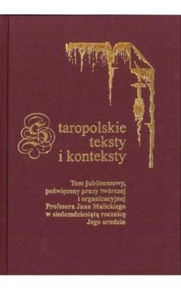 Staropolskie teksty i konteksty. T. 8 - Ebook - 978-83-226-3416-5