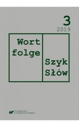 """""""Wortfolge. Szyk Słów"""" 2019, nr 3 - Ebook"""