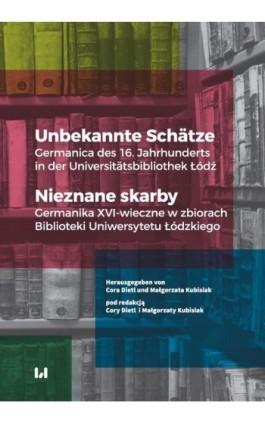 Unbekannte Schätze / Nieznane skarby - Ebook - 978-83-8142-252-9