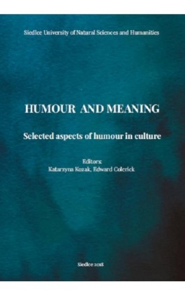 Humour and meaning. Selected aspects of humour in culture - Ebook - 978-83-7051-905-6