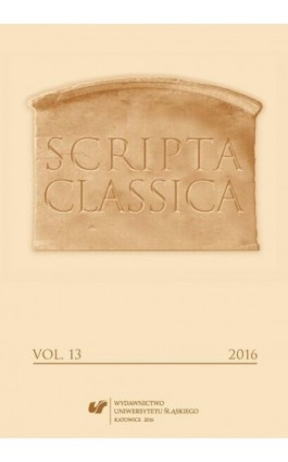 """Scripta Classica"" 2016. Vol. 13 - Ebook"