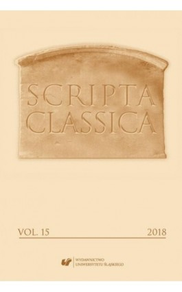 """Scripta Classica"" 2018. Vol. 15 - Ebook"