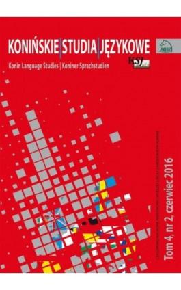 Konińskie Studia Językowe - Ebook