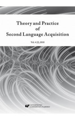 """Theory and Practice of Second Language Acquisition"" 2018. Vol. 4 (2) - Ebook"