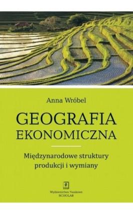 Geografia ekonomiczna. Międzynarodowe struktury produkcji i wymiany - Anna Wróbel - Ebook - 978-83-7383-541-2