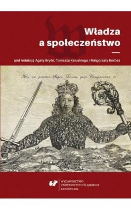 Władza a społeczeństwo - Ebook - 978-83-8012-620-6