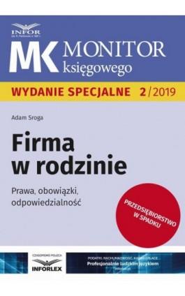 Firma w rodzinie - Adam Sroga - Ebook - 978-83-8137-578-8