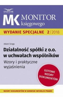 Działalność spółki z o.o. w uchwałach wspólników - Adam Sroga - Ebook - 978-83-8137-376-0