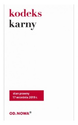Kodeks karny. Stan prawny 17 września 2019r. - Sejm RP - Ebook - 978-83-66265-44-8