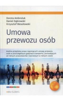 Umowa przewozu osób - Dorota Ambrożuk - Ebook - 978-83-65648-74-7