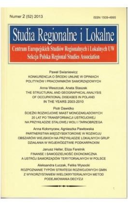 Studia Regionalne i Lokalne nr 2(52)/2013 - Grzegorz Gorzelak - Ebook
