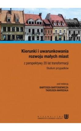 Kierunki i uwarunkowania rozwoju małych miast z perspektywy 20 lat transformacji. Studium przypadków - Ebook - 978-83-7525-584-3