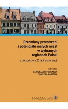 Przemiany przestrzeni i potencjału małych miast w wybranych regionach Polski z perspektywy 20 lat transformacji - Ebook - 978-83-7525-565-2