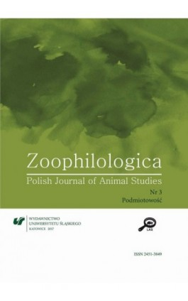 Zoophilologica. Polish Journal of Animal Studies 2017, nr 3: Podmiotowość - Ebook